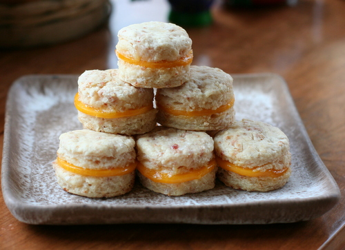 Country Ham Biscuit Bites with Cheese