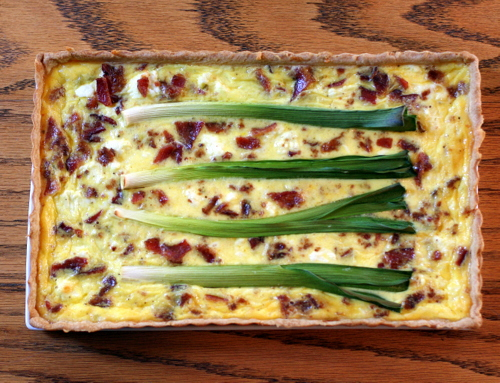 Flamiche (Belgian Leek, Goat Cheese and Bacon Tart)