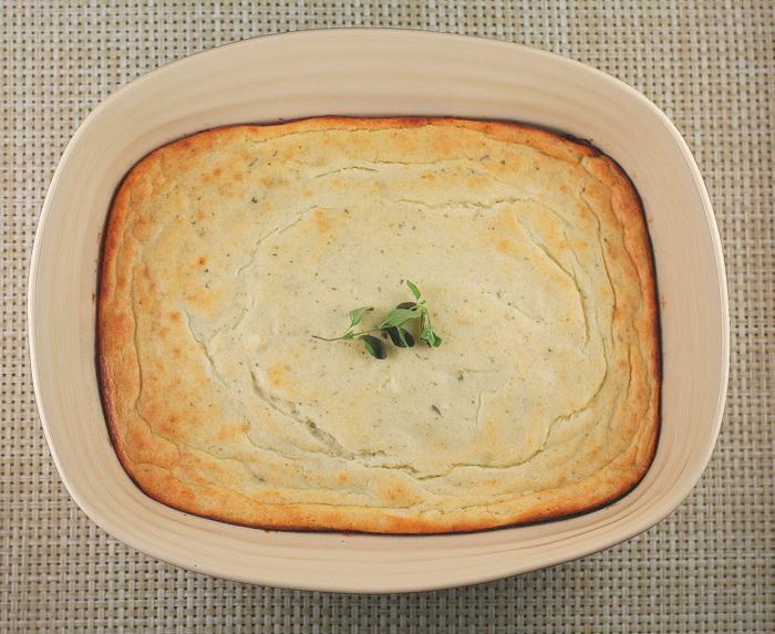 Vidalia Onion and Goat Cheese Souffle