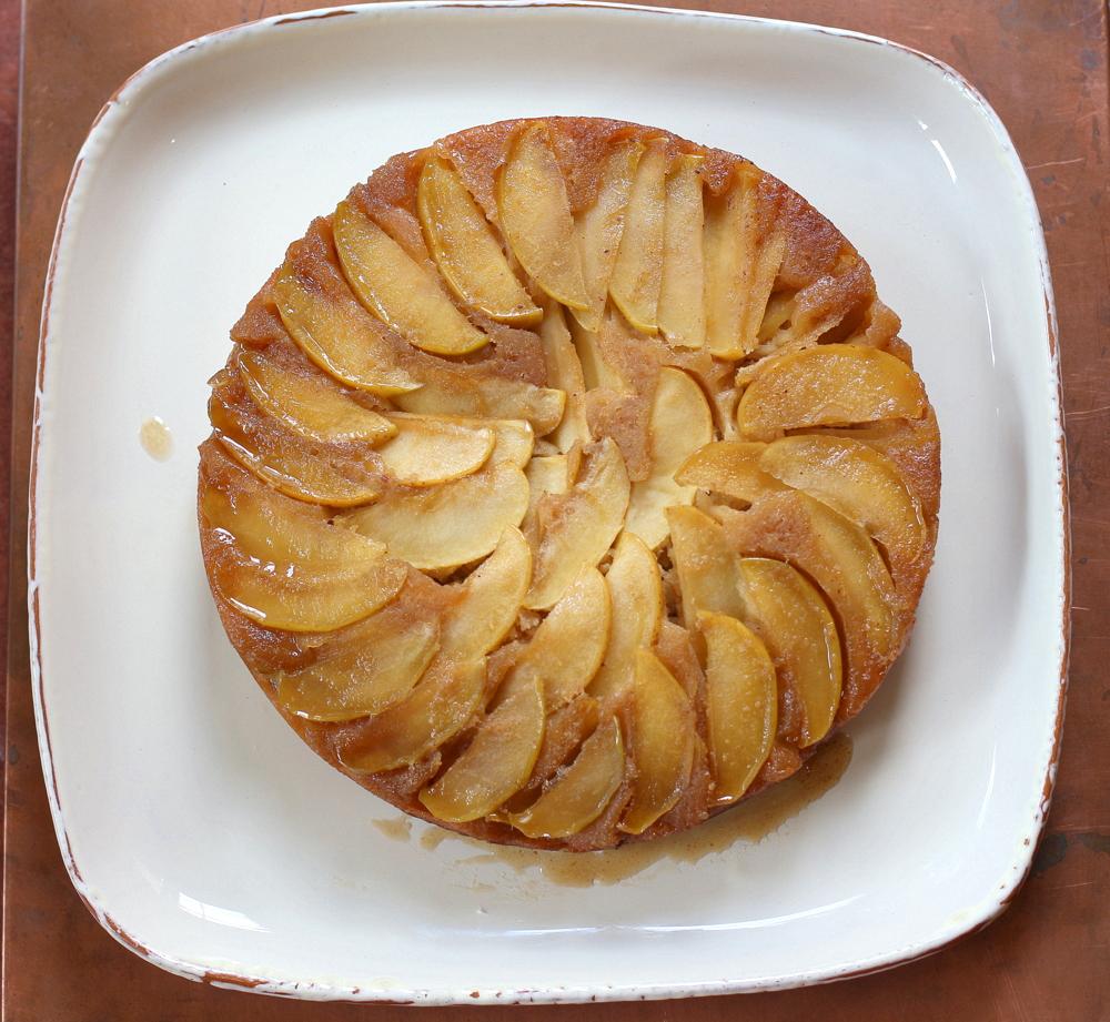 Apple Ginger Upside Down Cake