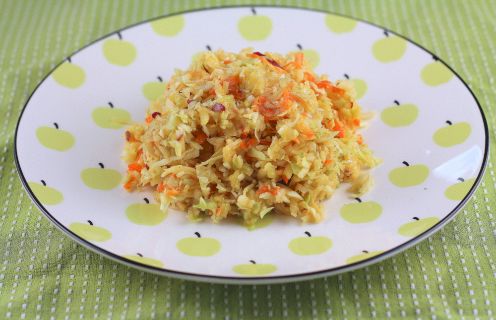 Apple Fennel Coleslaw with Curried Dressing