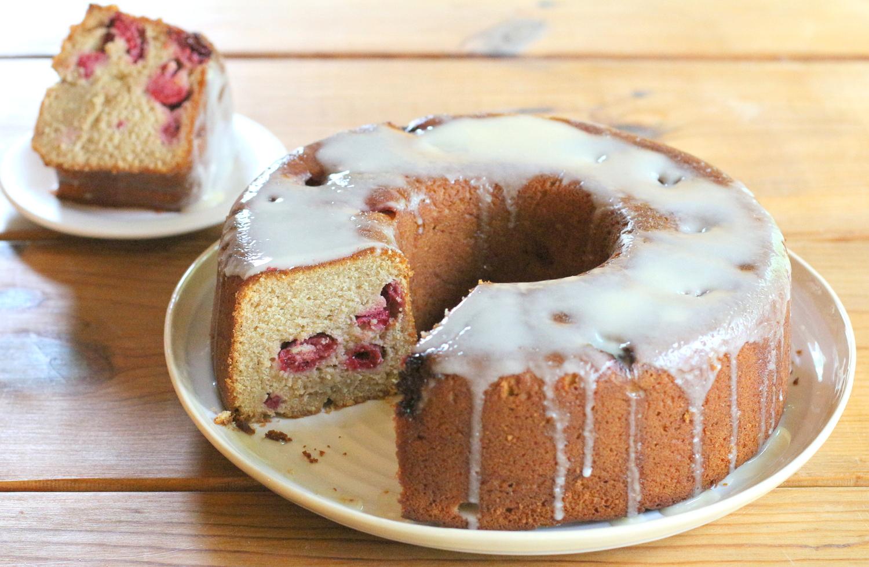 Honey Raspberry Cake
