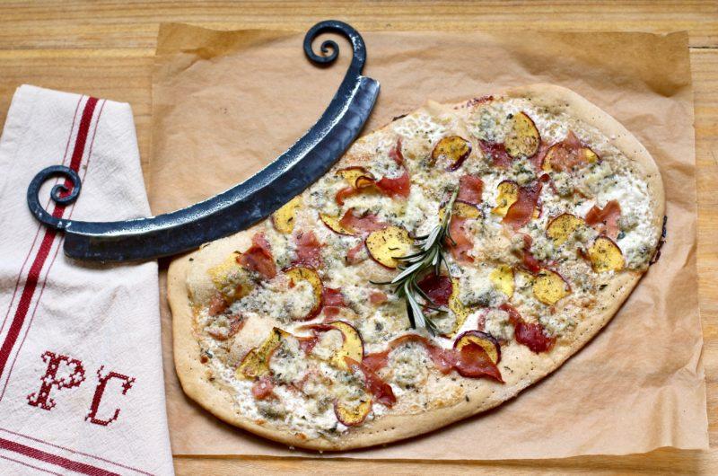 Nectarine, Gorgonzola and Prosciutto Flatbread